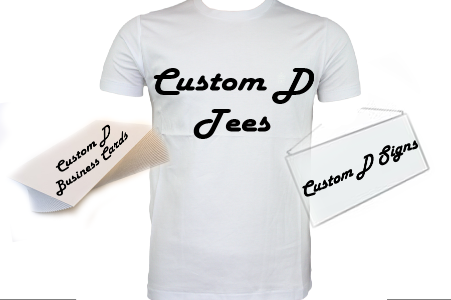 Custom d designing signs t shirts business cards for Business cards for t shirt business